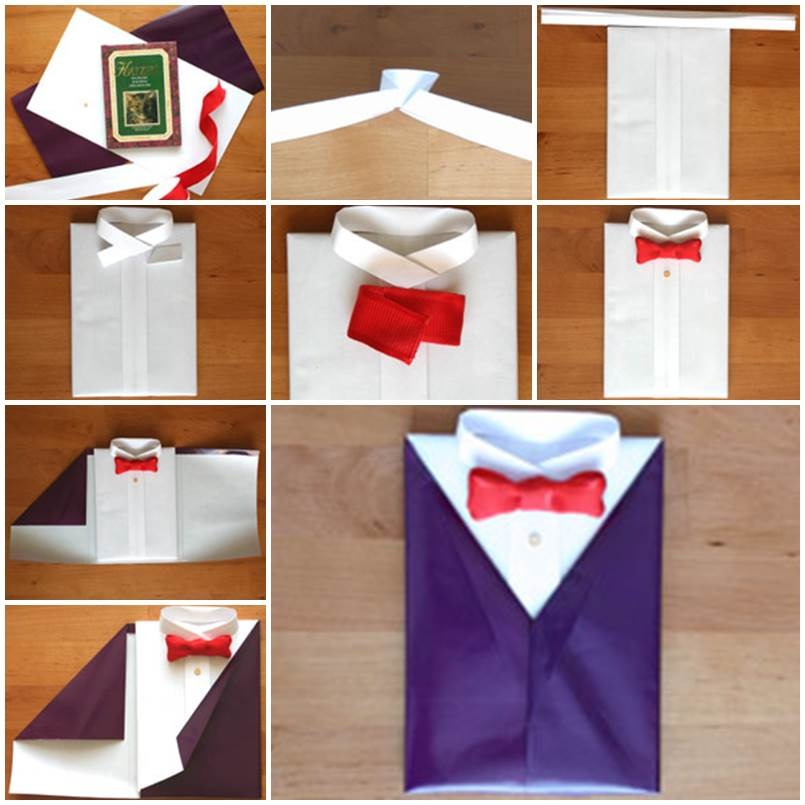 Подарок из бумаги мужчине