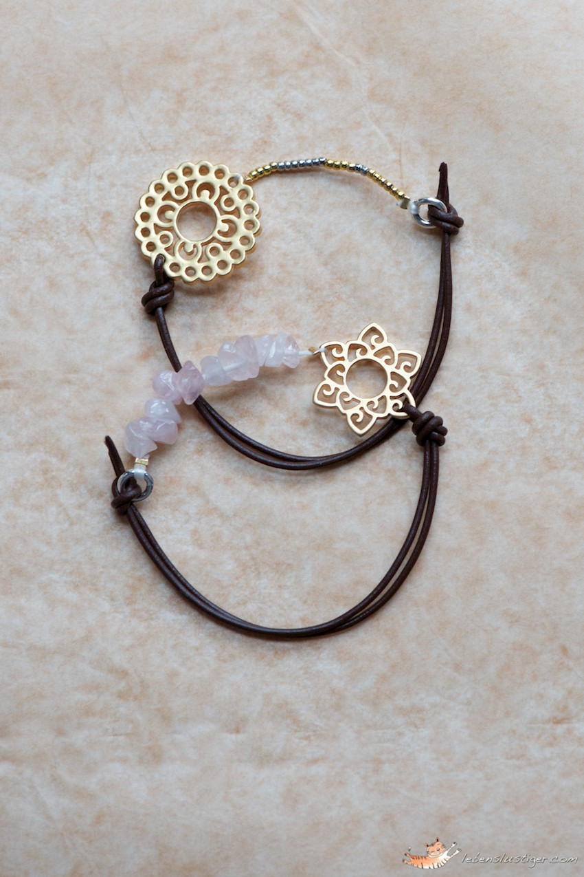 Leather bracelet tutorial with a little trick