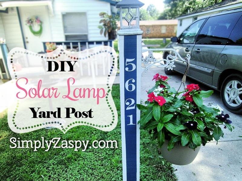 DIY Solar Lamp Yard Post