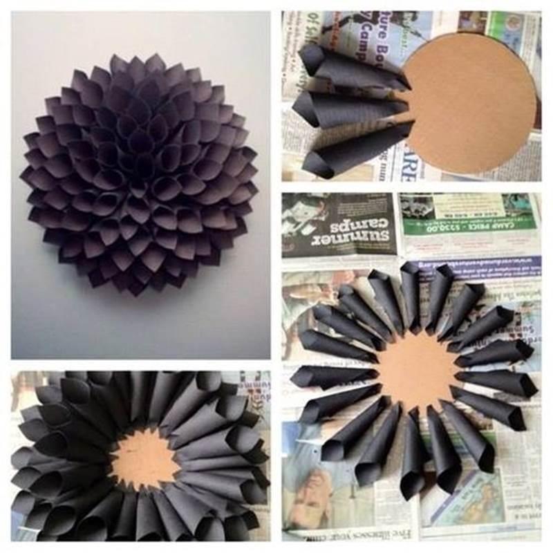 DIY Easy Paper Dahlia Wreath