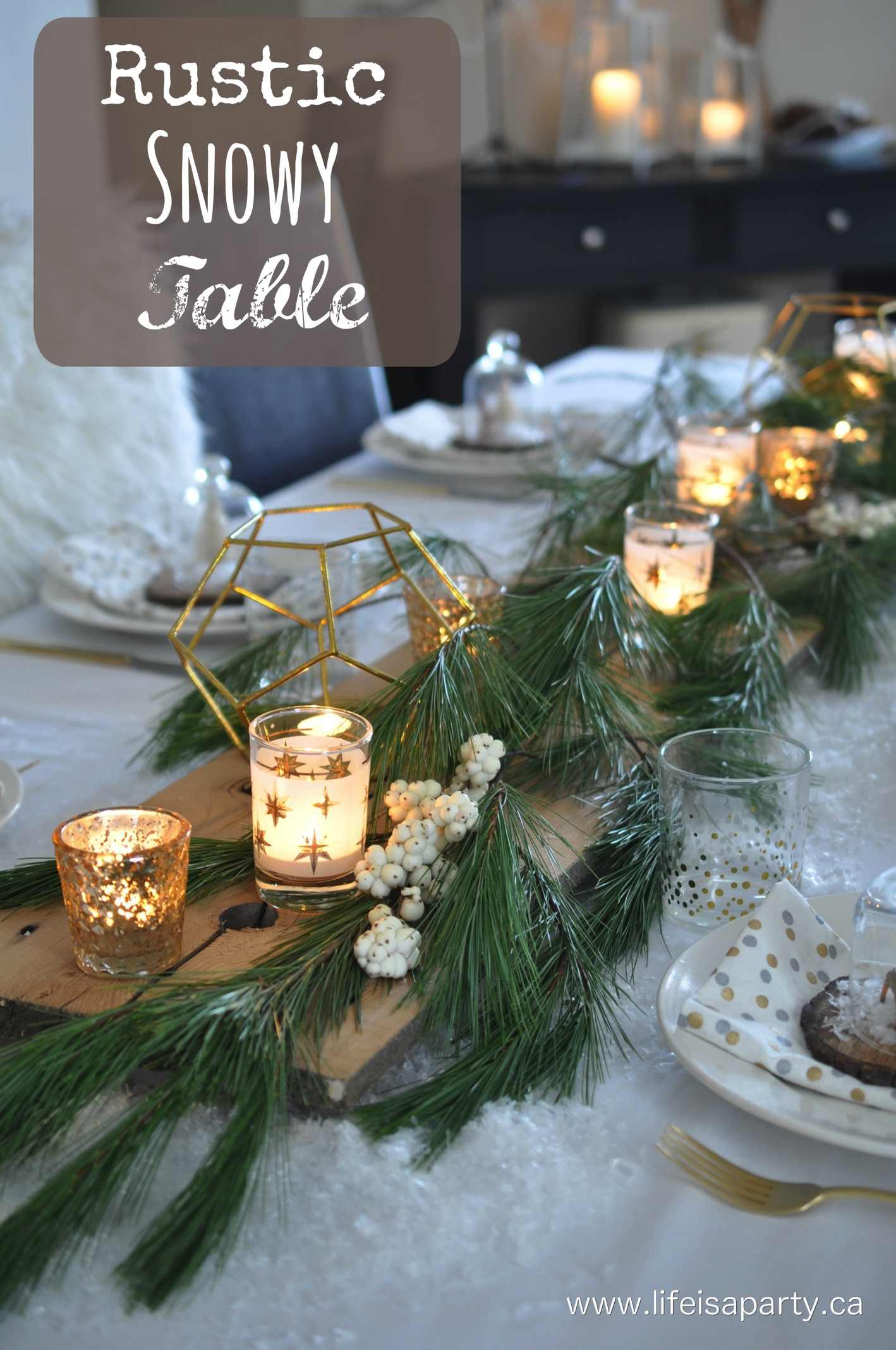 Rustic Snowy Table