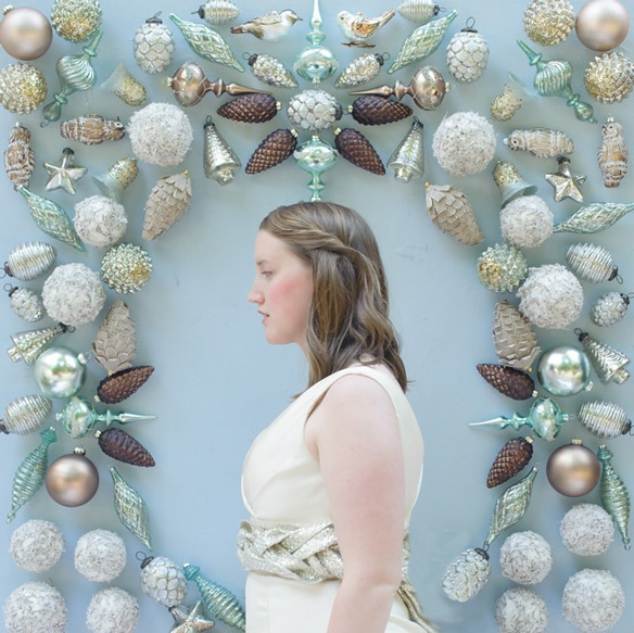 Ornament Backdrop for a Winter Wedding