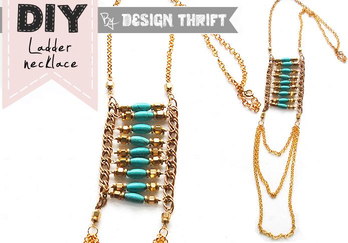 Diy: ladder necklace