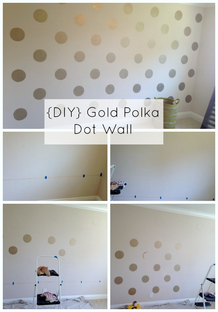 Reader Submission Gold Polka Dots and Ombre Wall Shoes Off Please