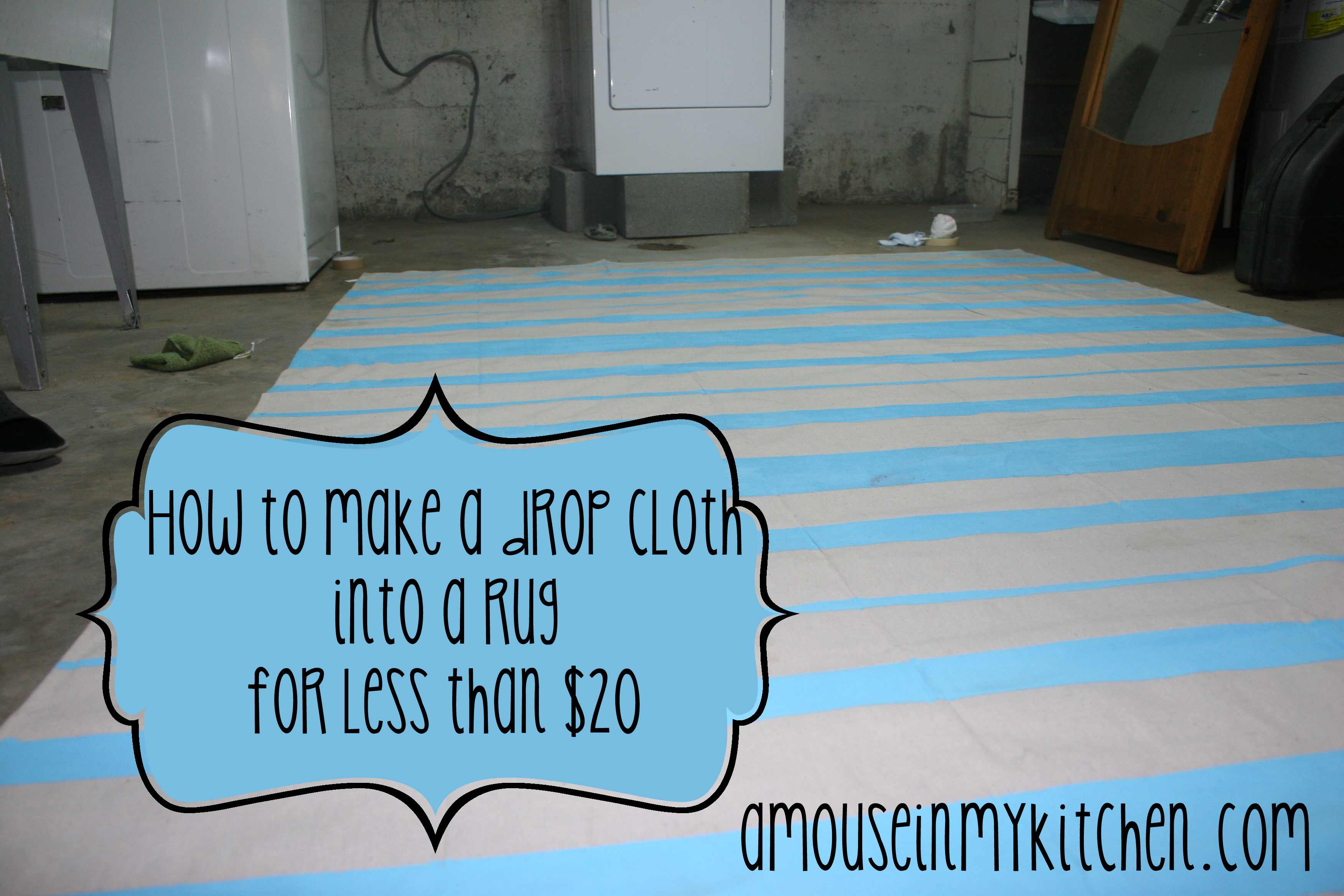How To Make A Drop Cloth Rug {for cheap!}