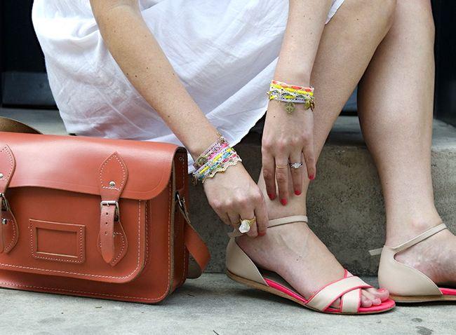 DIY lace charm bracelets