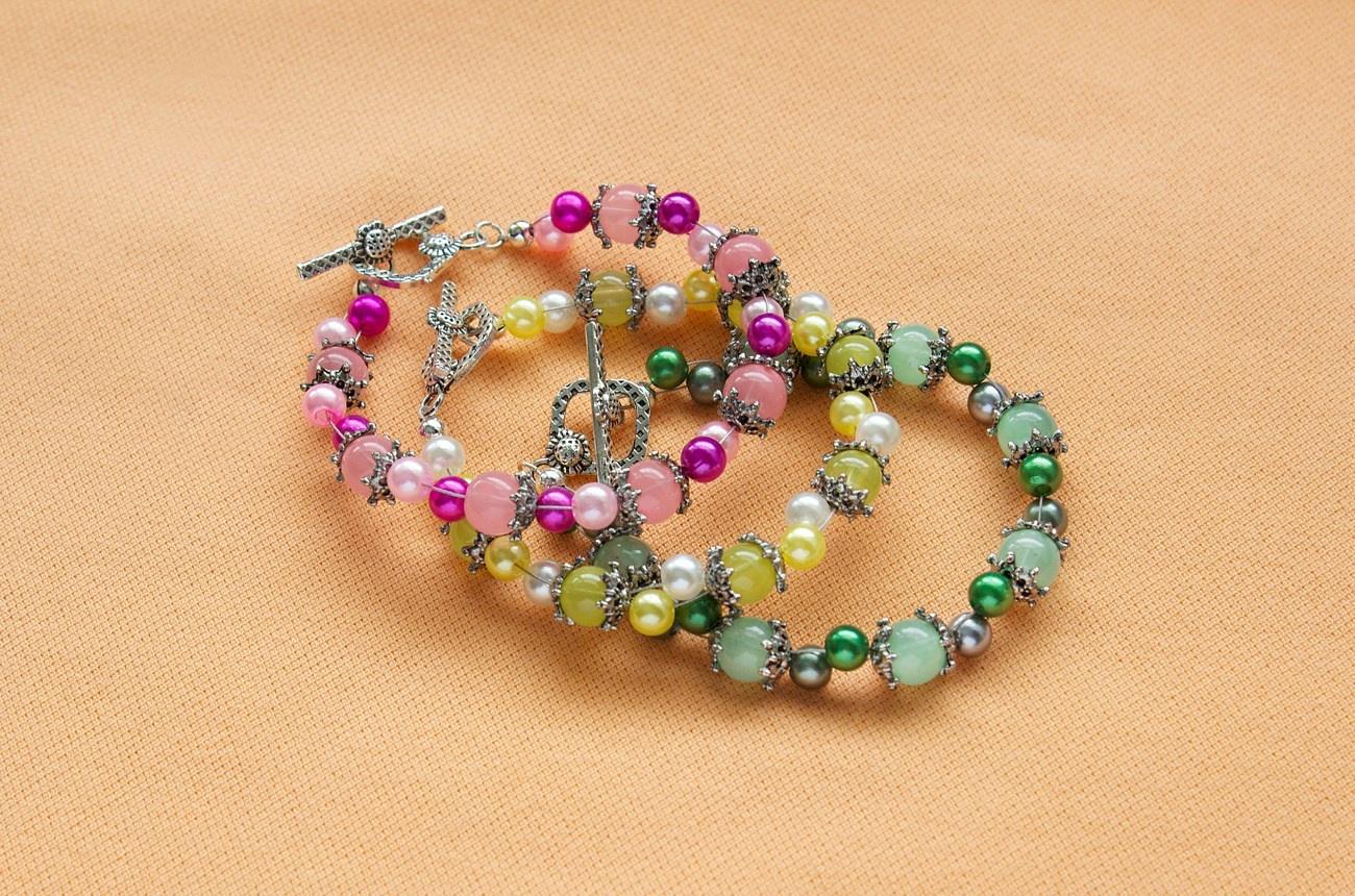 Sherbet pearl bracelets