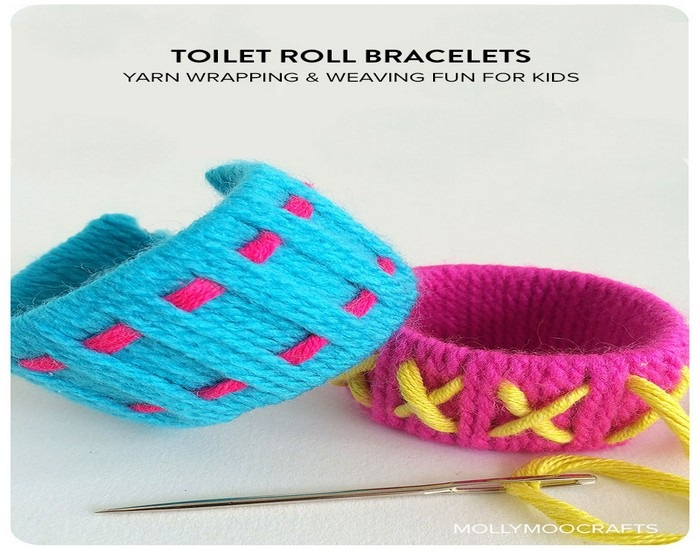 Design Colorful Bracelets with Toilet Roll Recycled Things