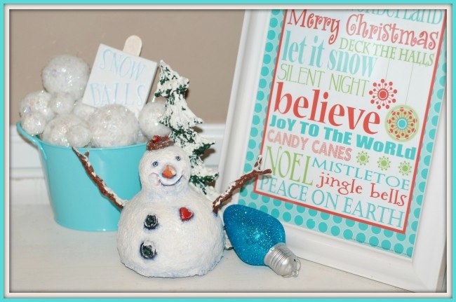 How To Make Snowballs An Easy Christmas Craft!