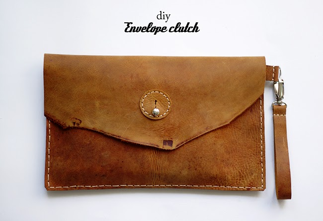 [DIY] bulky leather envelope clutch with detachable hand strap