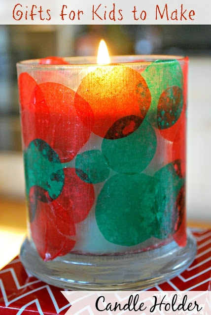 Kids Christmas Craft Candle Holder