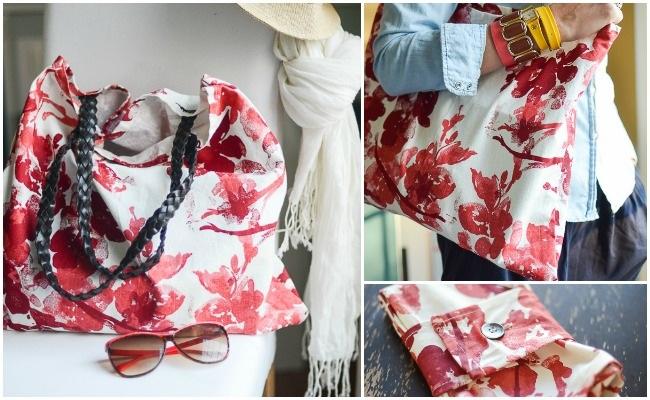 DIY TOTE BAG using fabric napkins