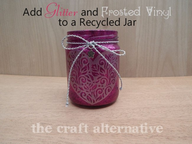 Recycle a Jar into a Pretty Piece for Organization!