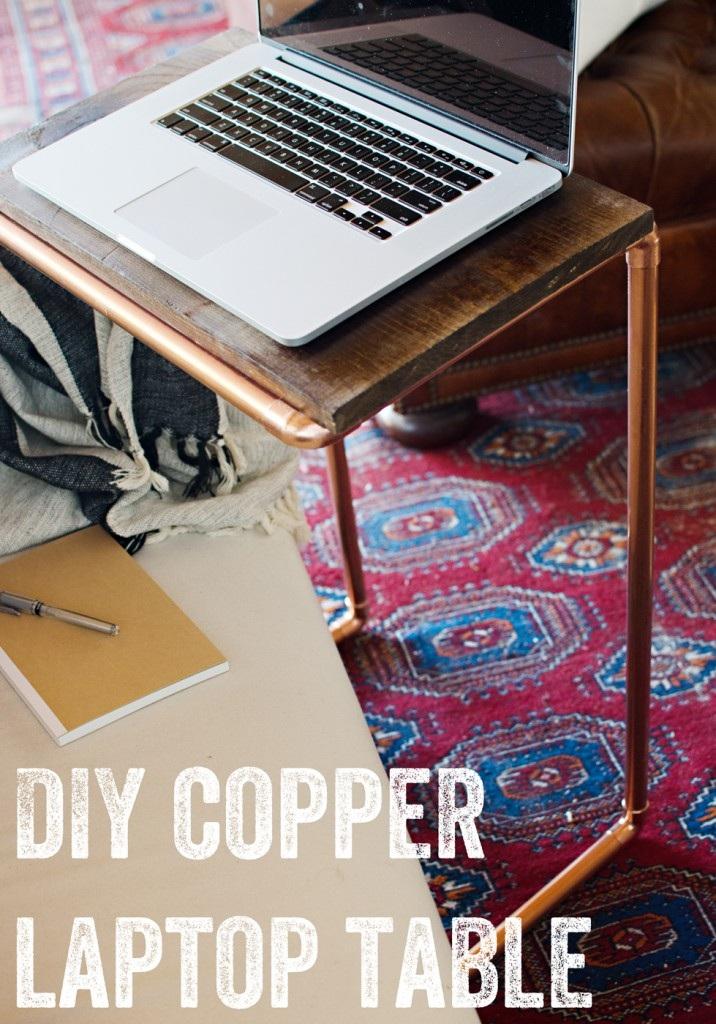 DIY Copper Laptop Table