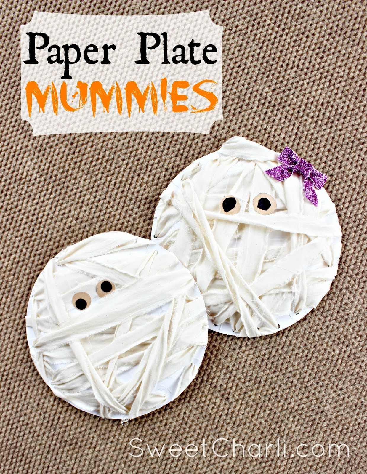 Craft for Kids Mummies from Paper Plates