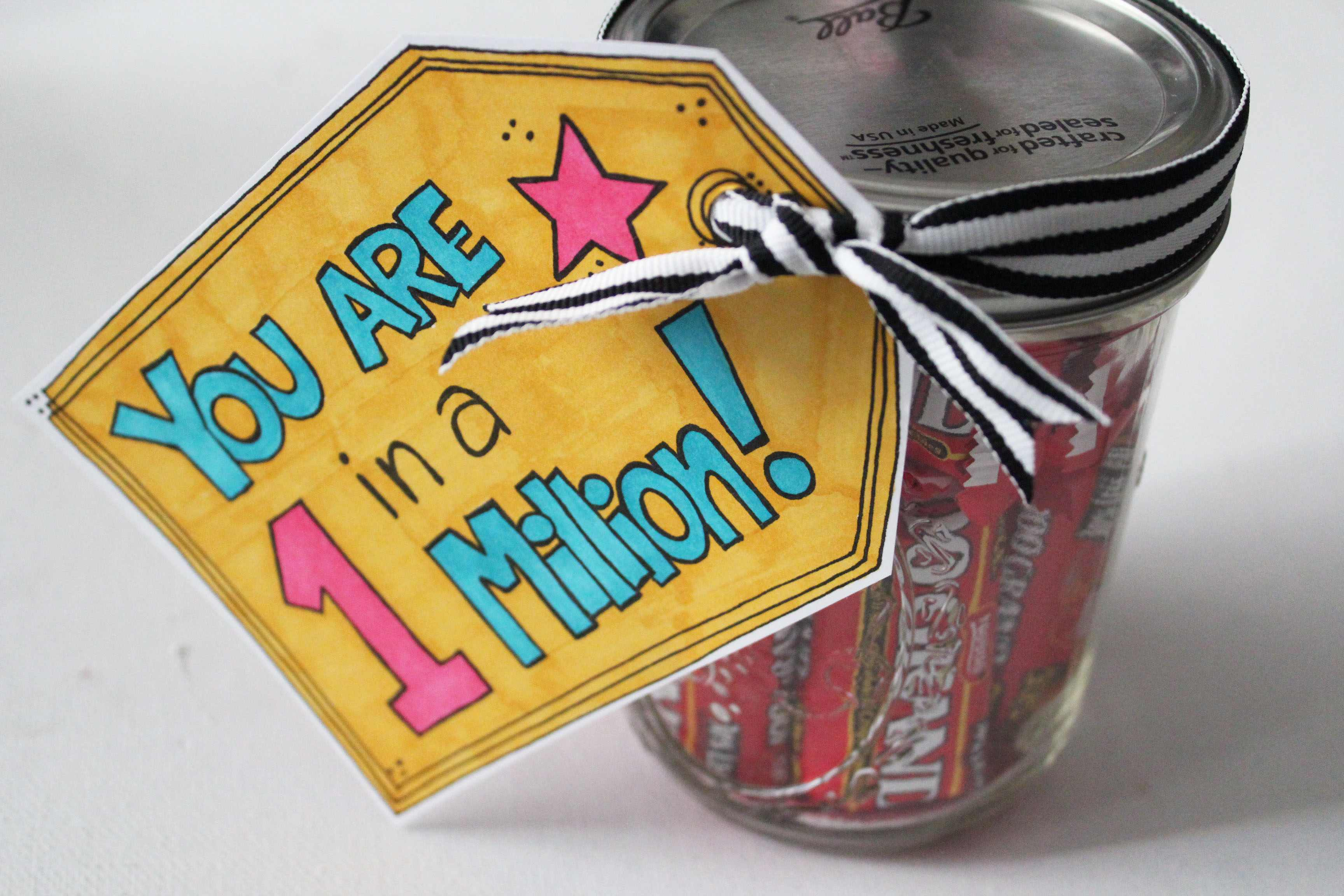Thanks a Million Candy Mason Jar