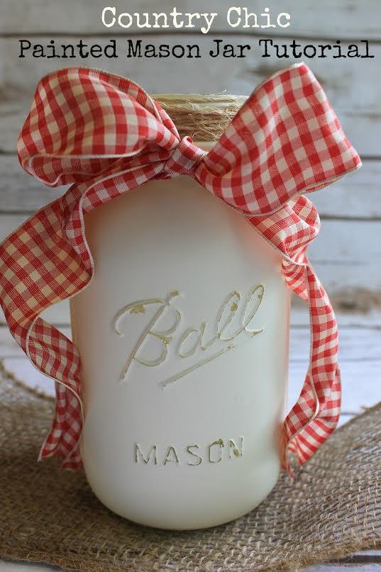 Painted Mason Jar Tutorial