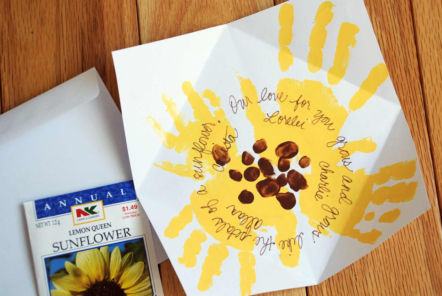How To Mother's Day Sunflower Handprint Card