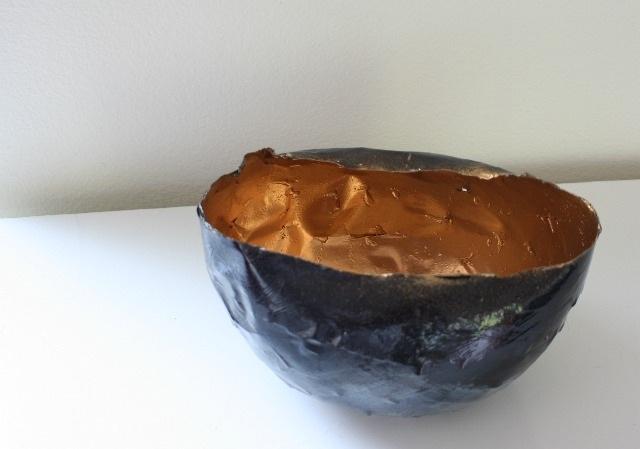 DIY gold+black glam bowl