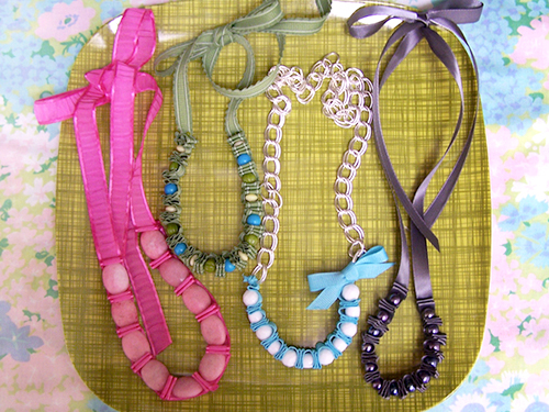 Diy:spring statement necklace