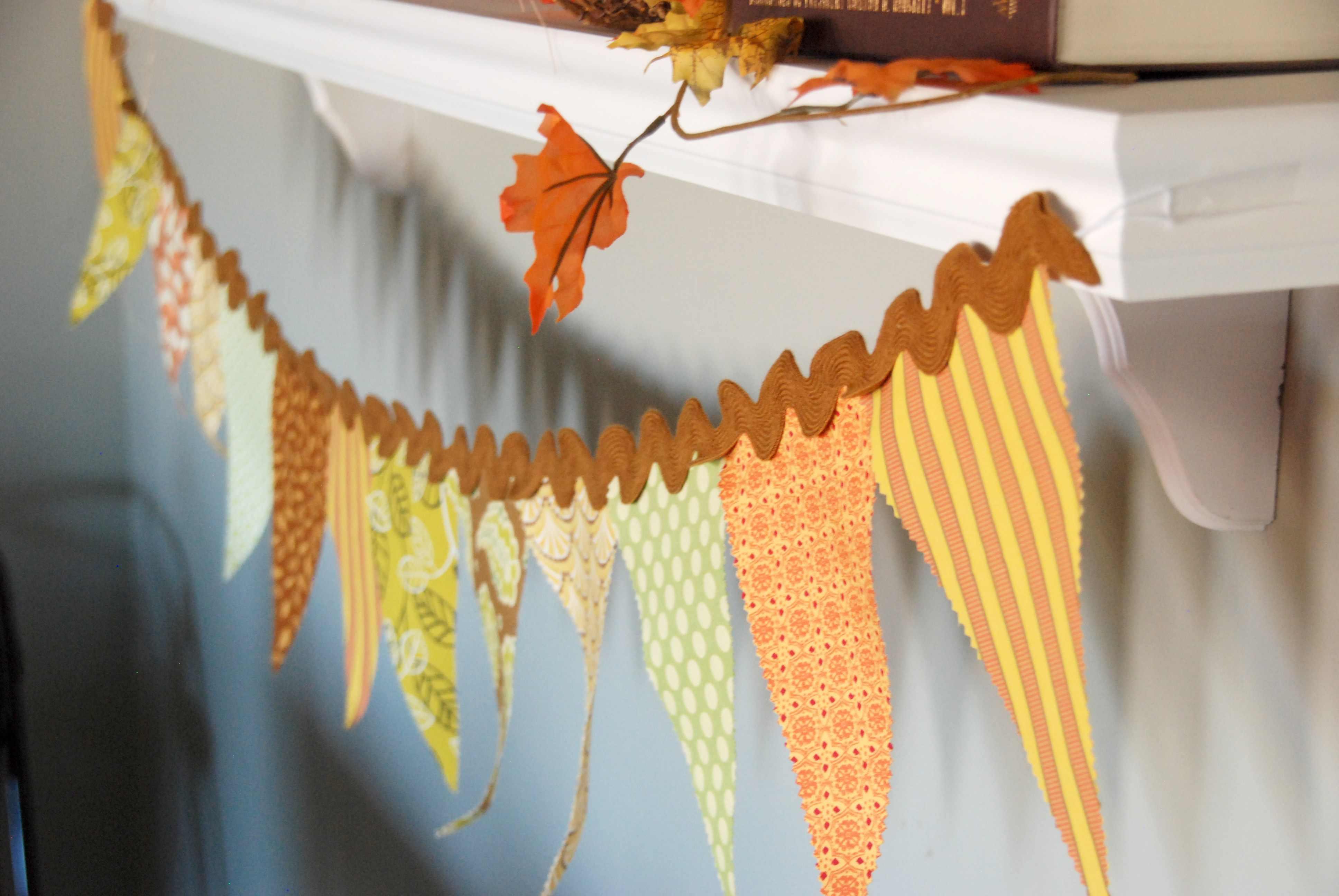 Fabric Thanksgiving Banner