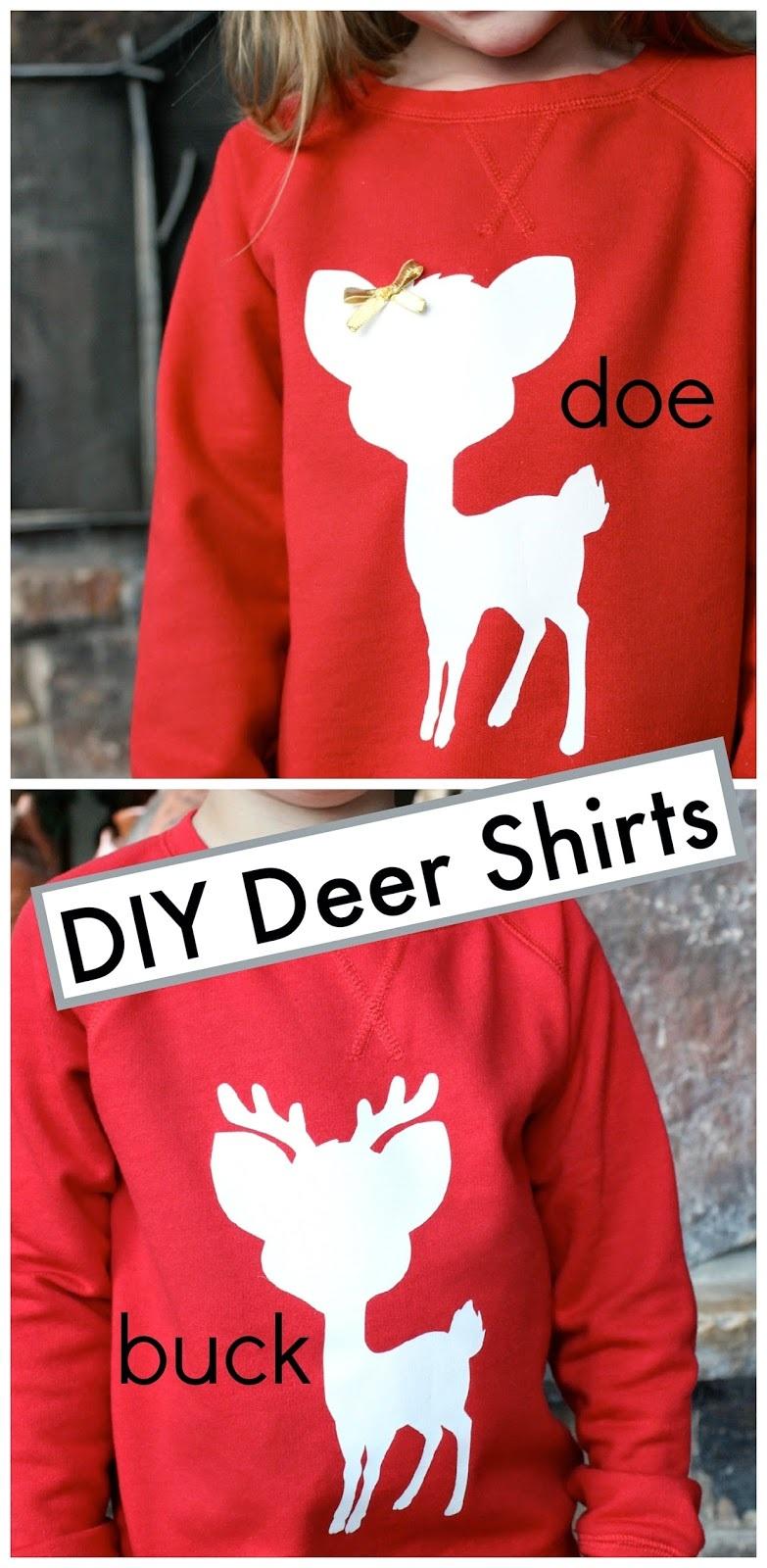 DIY Deer Silhouette Shirts