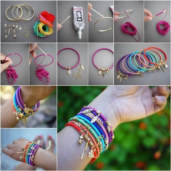 Summer Colorful Wrap Bangles
