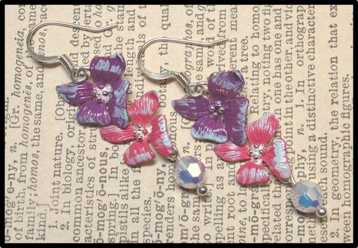 Painted Flower Earrings