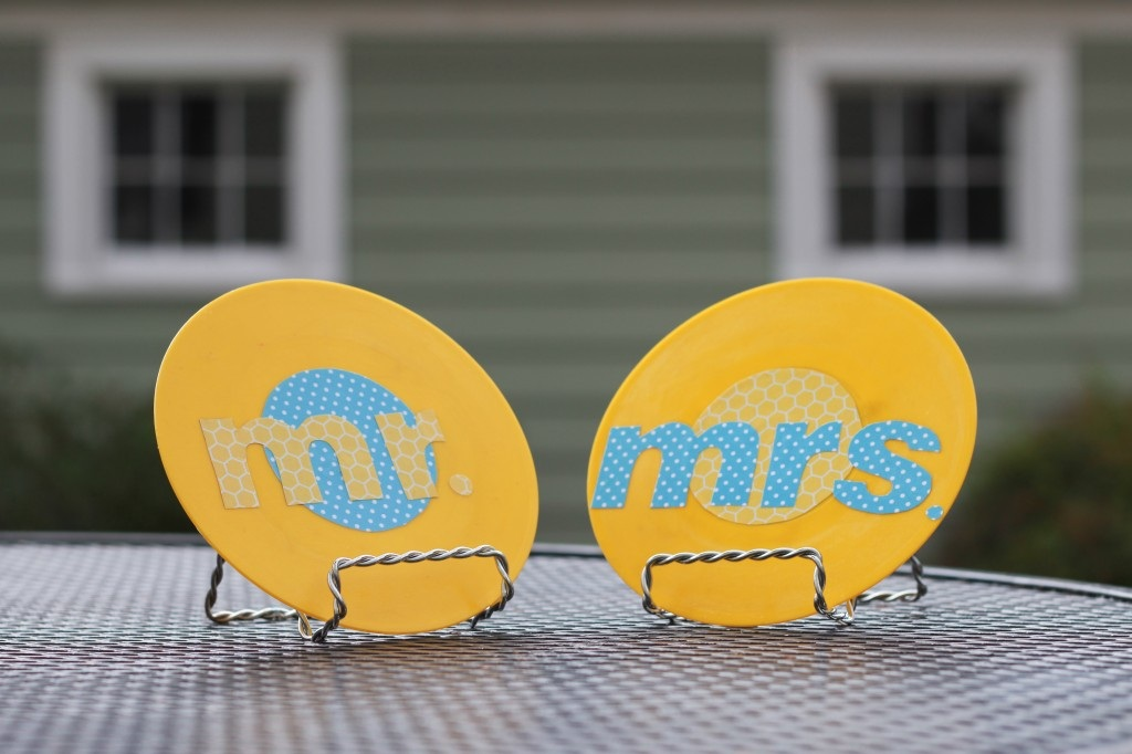 Trash to Treasure Upcycled Vinyl Table Numbers