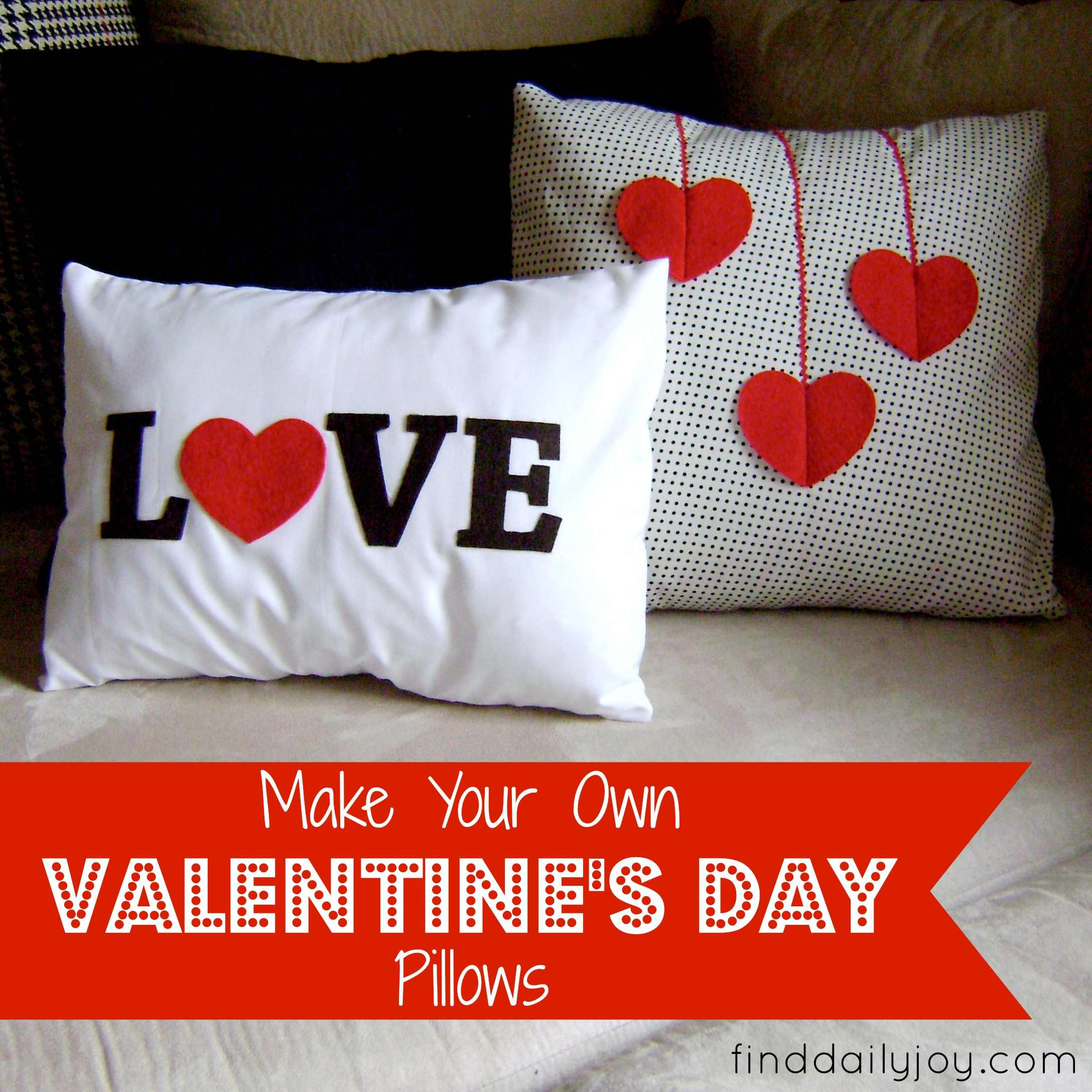 Valentine's Day Pillows {Tutorial}