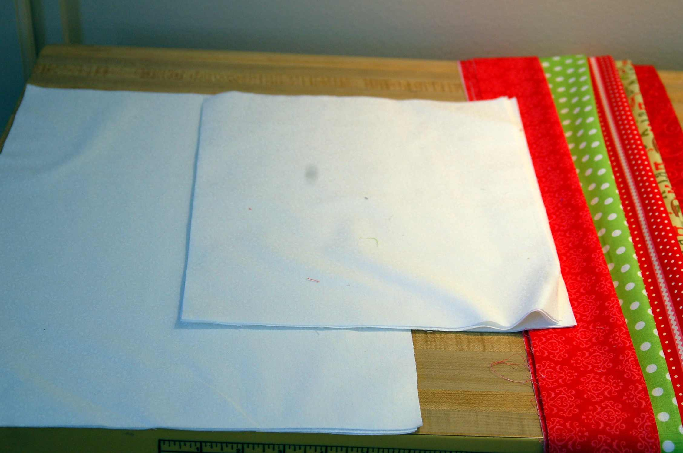 Ruffled Christmas Pillow