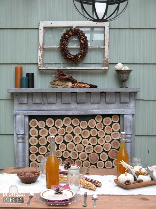 DIY Faux Fireplace Indoor or Outdoor