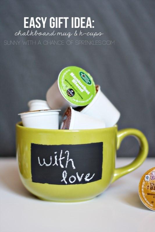 DIY Chalkboard Mug + K cup Gift