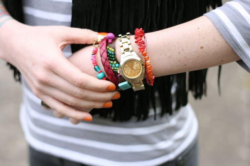 Modern friendship bracelets DIY