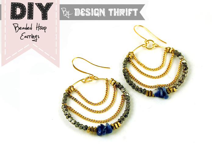 Diy: beaded hoop earrings