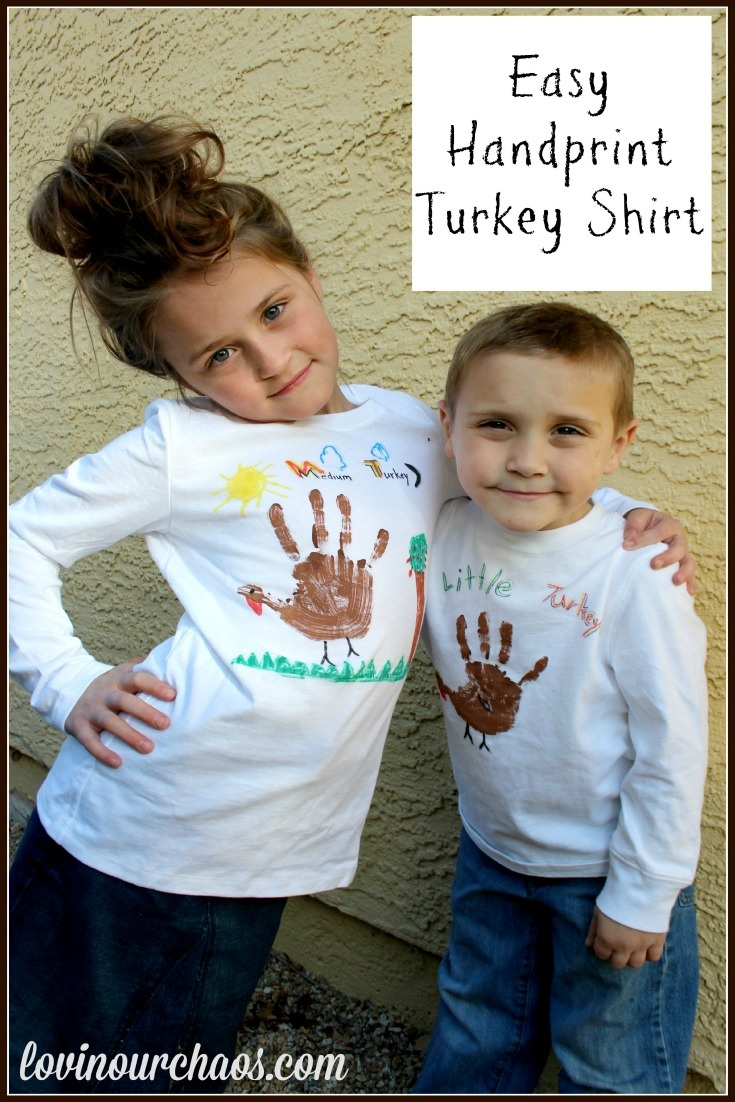 Easy Thanksgiving Turkey Hand Print Shirt