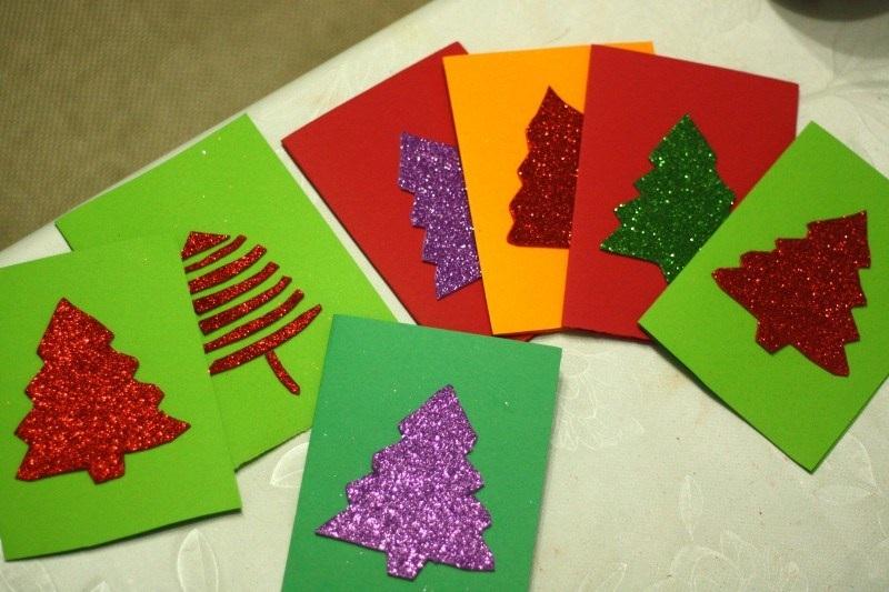 Christmas Tree Cards Romanian Mum Blog