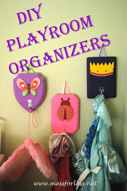 DIY Playroom Organizers
