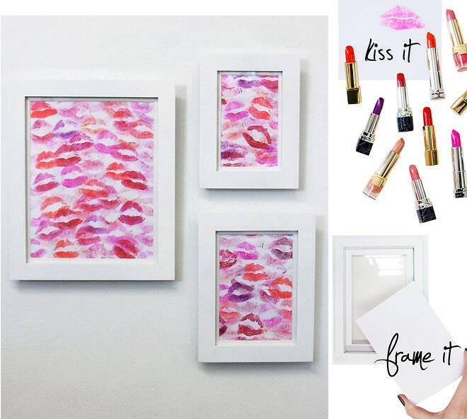 Painting with kisses