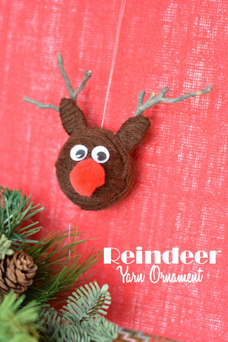 Christmas Yarn Craft Reindeer Ornaments