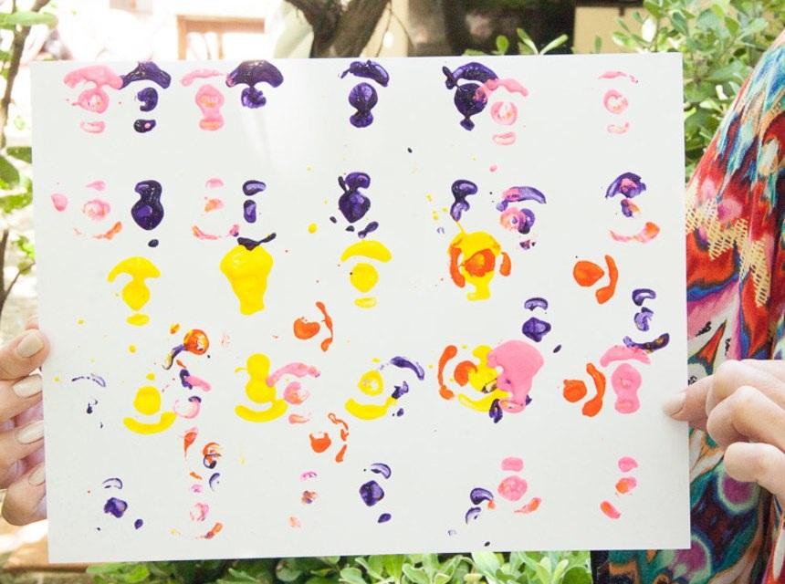 Egg Carton Print Painting