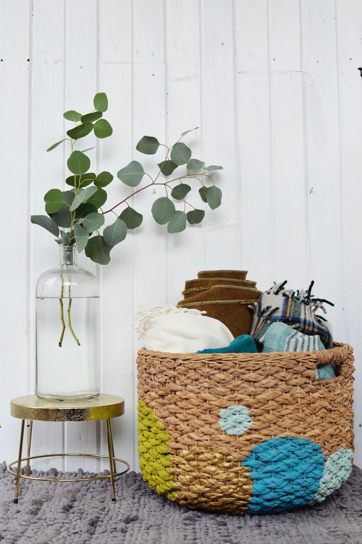 DIY Painted Basket Diy & Crafts