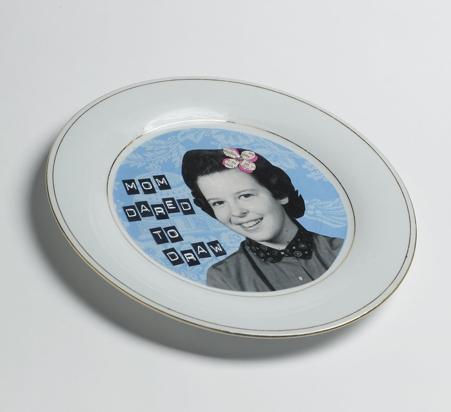 Make it for Mom Altered Plates