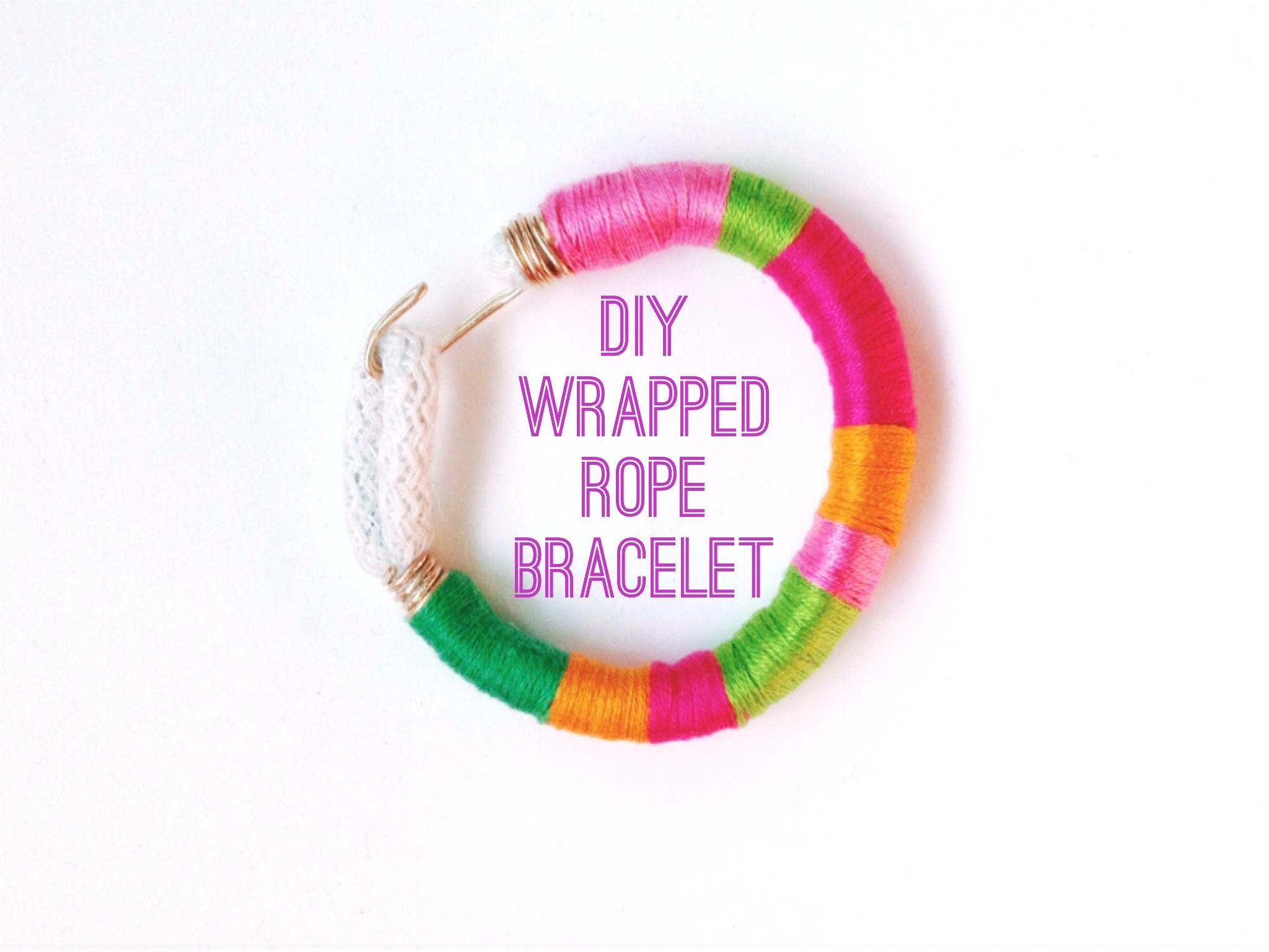 Wrapped rope bracelet DIY