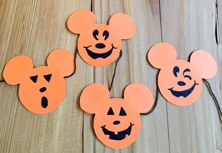 Mickey Pumpkin Halloween Banner