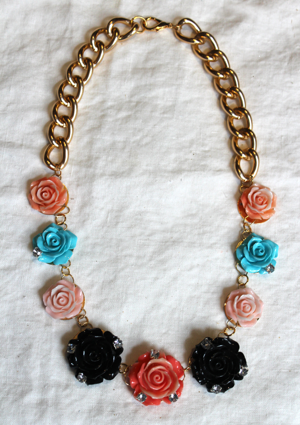 Diy: erickson beamon inspired rose garden bib necklace