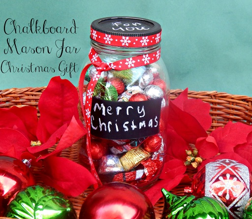 Chalkboard Mason Jar Christmas Gift