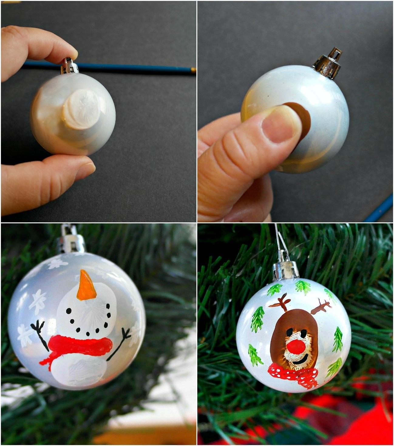 Double Sided Thumbprint Keepsake Ornament