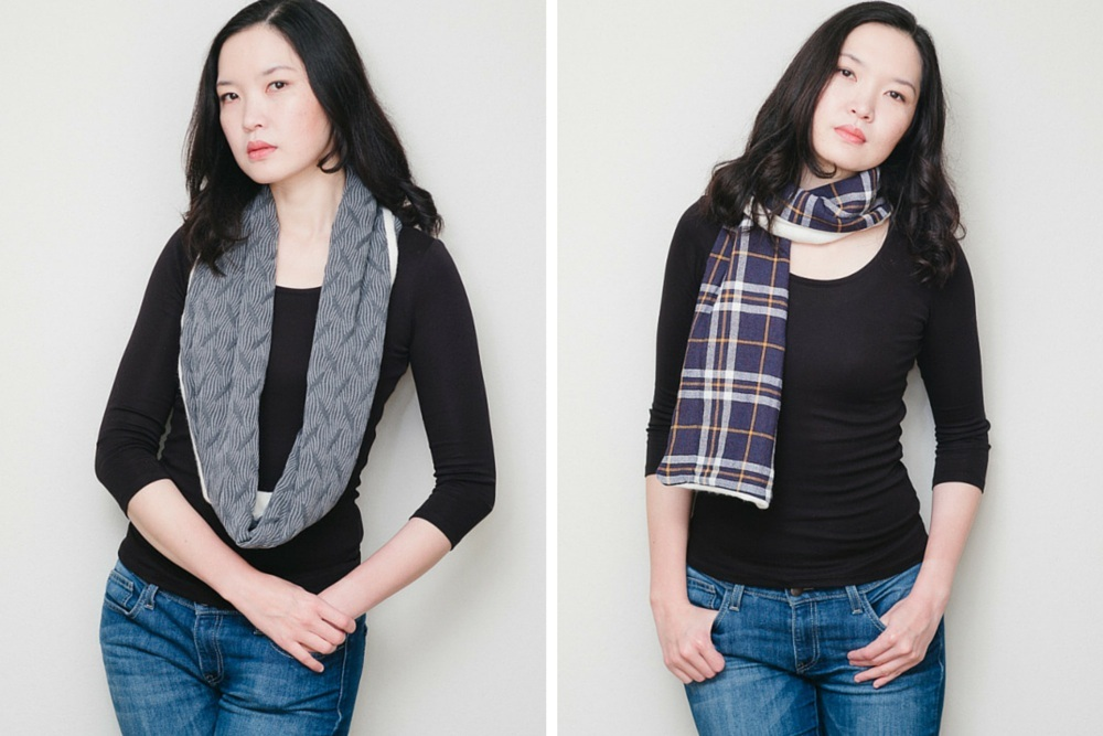 DIY Winter Scarves with Cashmere and Wool Knits