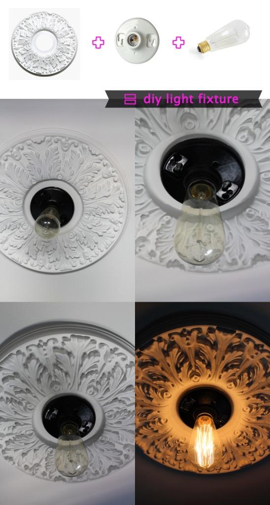DIY Ceiling Light Fixture
